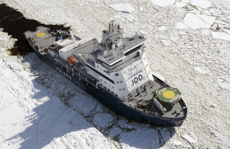 Polaris finish icebreaker